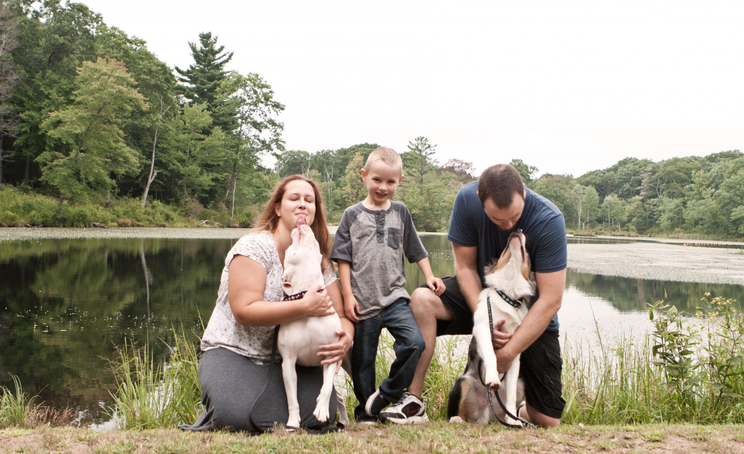 Erika and family on one of their hiking adventures - Manchester Veterinary Clinic - CT - at Gay City State Park in Hebron, Connecticut - photo by ActRegal Photography